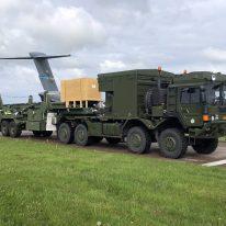 Pierwszy zestaw ogniowy systemu Patriot dostarczony do Szwecji, ZBiAM, 1.06.2021